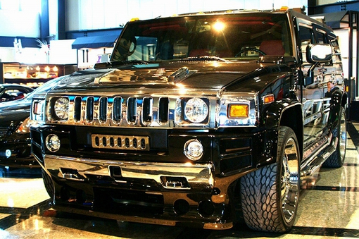 HUMMER H2 USA Front Protector FRP イメージ1